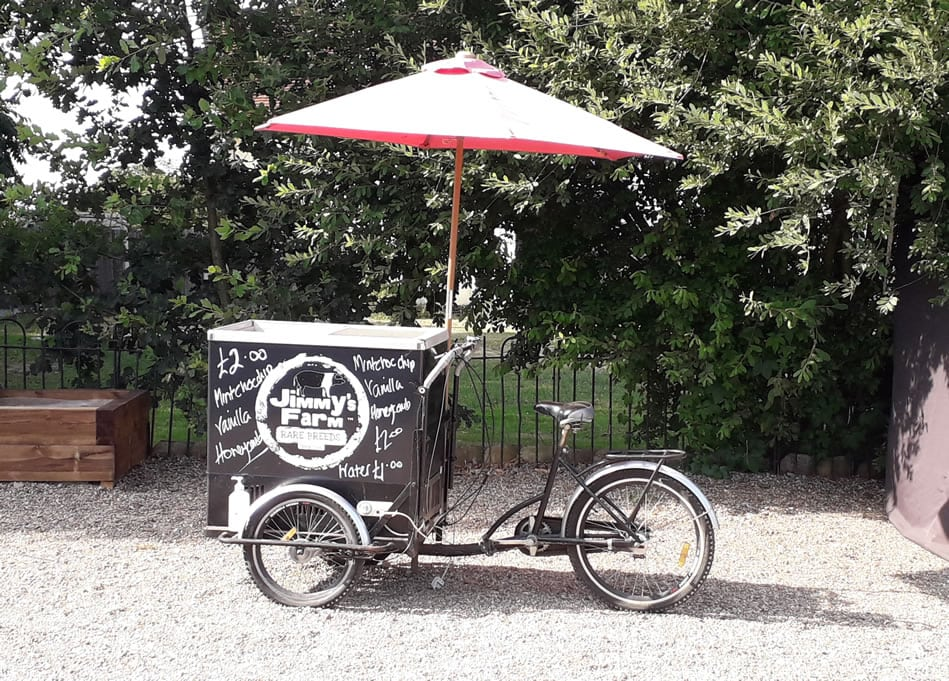 Ice cream on the move at Jimmy's Farm
